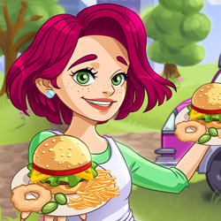 Play Game Burger Truck Frenzy USA