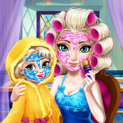 Play Game Ice Queen Mommy Real Makeover