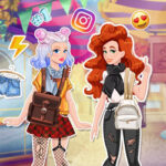 Play Game Jessie and Audrey's Social Media Adventure