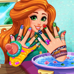 Play Game Jessie's DIY Nails Spa