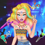 Play Game Music Festival Hairstyles