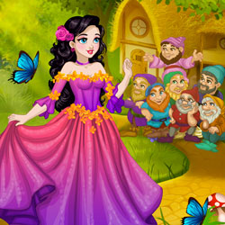 Play Game Snow White Fairytale Dress Up