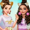 Dress Up Game: Belle And Moana Friendversary