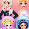 Dress Up Game: Princesses Caring For Baby Princesses