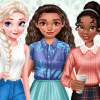 Dress Up Game: Princesses New Year Goals