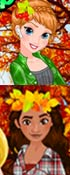 Play Princess Fall Flannels Game